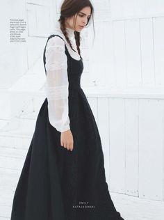"""""""The New Gothic Drama"""" Emily Ratajkowski for InStyle UK October 2015"""
