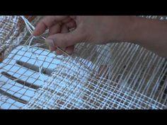 Artisan knotting filet lace.