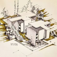 Architecture Drawing Discover Concept Concept Architecture Architecture architectural concept # is # Architecture / Architectural Concept Architecture Concept Drawings, Architecture Sketchbook, Art And Architecture, Classical Architecture, Building Sketch, Interior Design Sketches, Planer, Illustrations, Architectural Sketches