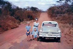 Mombasa Road at Manyani Kenya Nairobi, Kenya Africa, East Africa, Vintage Safari, Beautiful Roads, Mombasa, Africa Travel, Historical Photos, Tanzania