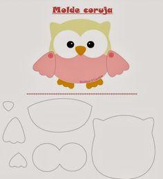 Molde coruja | Owl template