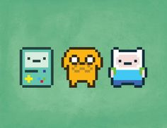 8 bit finn and jake - Google Search More
