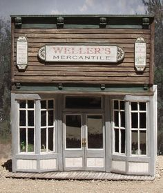 Western storefront made from paperclay!!