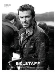 Band of Rebels–Starring alongside soccer star David Beckham, Romanian model Andreea Diaconu takes the spotlight in Belstaff's spring-summer 2014 campaign. Photographed by renowned fashion photographer Peter Lindbergh (2b Management), the pair poses on location in the countryside of Buckinghamshire, England. Andreea and David are joined by male models Tom Firth, Christian Gadjus and Will Bowden …