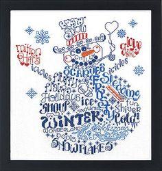 Let's Be Jolly Counted Cross Stitch Pattern  #crossstitch #snowman #frosty #christmas #winter #snowmen #imaginating #cross_stitch #needlework #crafts #diy #pattern #chart