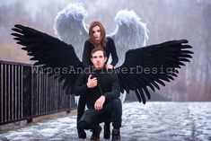Black Angel Wings, Black Angels, Lucifer Wings, Party Masks, Fairies, Goth, Costumes, Fictional Characters, Color