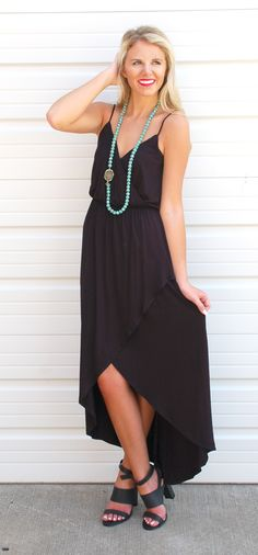 Wrapped In Black Maxi
