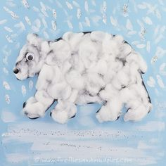 This easy and fun polar bear craft for kids includes a free printable polar bear outline, making this project perfect for school or home! Polar Bear Outline, Art D'ours, Bear Template, Artic Animals, Wild Animals, Baby Animals, January Crafts, Animal Art Projects, Bear Theme