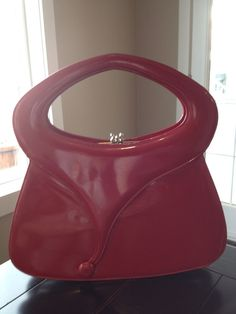 1980's Red Purse by TripletVintage on Etsy, $25.00