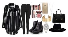 """""""Untitled #160"""" by harmonizer4ever on Polyvore featuring Topshop, Charlotte Tilbury, Rolex, H&M, MICHAEL Michael Kors, Rifle Paper Co and Zimmermann"""