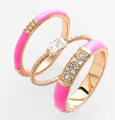 Beautiful pink ring