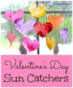Valentines Day Sun Catchers Craft