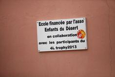 Merci aux étudiants du Raid 4L Trophy ! Association Enfants du désert - Humanitaire