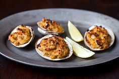 Try this Rose's Deviled Clams Casino recipe, or contribute your own. Dinner Recipes For Kids, Healthy Dinner Recipes, Kids Meals, Healthy Snacks, Clams Casino, Clam Recipes, Seafood Recipes, Seafood Dishes, Fish Recipes