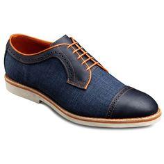 Baton Rouge - Cap-toe Lace-up Oxford Men's Casual Shoes by Allen Edmonds | La Beℓℓe ℳystère #denim
