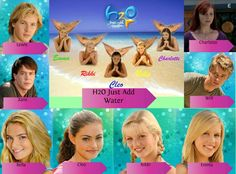 H2O Just Add Water Lewis Zane Bella Cleo Rikki Emma Will Charlotte
