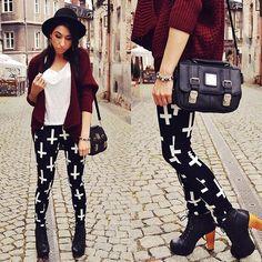 Cross pants (by Pam S) http://lookbook.nu/look/3998668-cross-pants