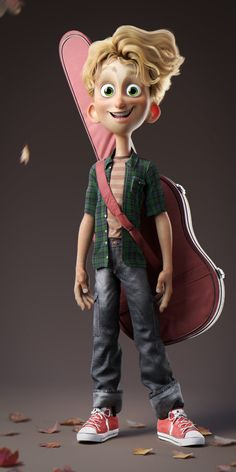 The Music by Gean Carlos Gomes Vieira 3d Character Animation, Zbrush Character, 3d Model Character, Character Poses, Character Modeling, Character Design References, Character Concept, Character Art, Concept Art