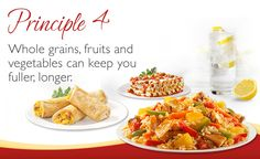 Say 'YES' to whole grains, fruits, and vegetables with Smart Ones® 6 Smart Eating Principles