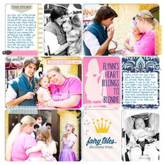 Disney Princess Flynn digital Project Life layout created by Britt featuring Project Mouse (Princess Edition) by Sahlin Studio and Britt-ish Designs