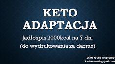 Dieta ketogenna wg Revy. Sam spróbuj!: KetoAdaptacja - tygodniowy jadłospis 2000kcal Lchf, Paleo, Fit, Pies, Shape, Beach Wrap, Paleo Food