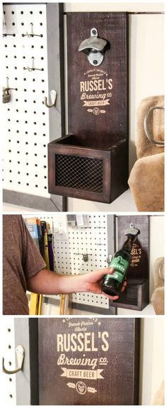 Great personalized gift idea for Father's Day! Love this beer bottle opener!