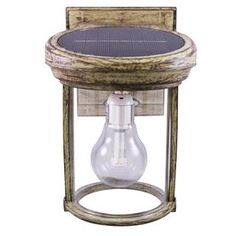 Gama Sonic Solar Coach Light H Weathered Bronze Solar LED Outdoor Wall Light at Lowe's. The Gama Sonic Solar Coach lantern is a single solar wall lamp that features a mix of industrial design and modern accent wall decor. Outdoor Sconces, Outdoor Wall Lantern, Outdoor Walls, Outdoor Light Fixtures, Best Solar Lights, Solar Wall Lights, Solar Light Bulb, Accent Wall Decor, Coach Lights