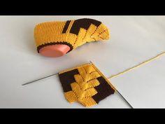 Çam modeli/ kolay patik /iki şiş patik/çeyizlik patik - YouTube Knitting Videos, Loom Knitting, Knitting Socks, Baby Knitting, Knitting Patterns, Crochet Baby Poncho, Tunisian Crochet, Viking Tattoo Design, Sunflower Tattoo Design