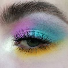 pastel dream 💜💙💛 · · · a thowback to one of my fave colorful, but wearable looks! excuse my old brows hahah ❤ i love pastels and want to… Makeup Goals, Makeup Inspo, Makeup Art, Makeup Inspiration, Eye Makeup, Eyeliner, Eyeshadow, Brows, Make Up