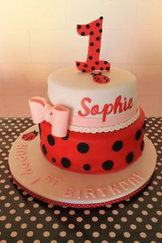 Ladybug themed birthday cake!