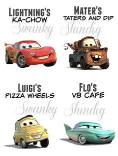 Disney Cars Party Printables por SwankyShindig en Etsy