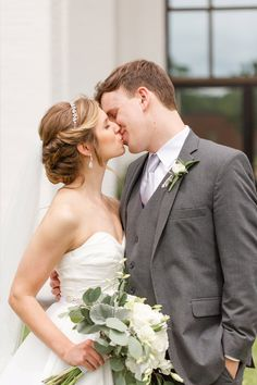 Elegant Blue and Gray Wedding for $12K Budget Wedding, Wedding Planning, David's Bridal Veils, Couple Shots, Gray Weddings, Groom Attire, Our Wedding Day, Weddingideas, Wedding Inspiration