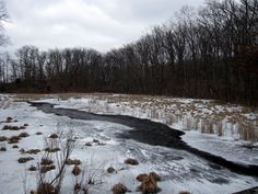 Snowy river in Pinckney State Recreation Area semiwild.org