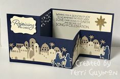 Night in Bethlehem Z Fold Card :: Confessions of a Stamping Addict