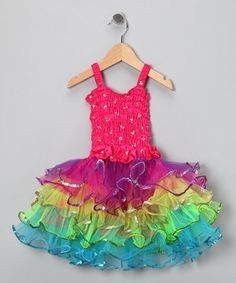 Look what I found on #zulily! Fuchsia Rainbow Lily Dress - Toddler & Girls by Fairy Dreams #zulilyfinds