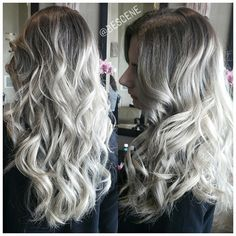 ALL ASH EVERYTHING! My most popular request is the cool/ash toned balayage ombre. When working with asian, hispanic, and middle eastern hair. My fellow hairstylist friends will tell you. Its the hardest type of hair to get ashy. Sometimes, it does take a second visit. Please be patient with your stylist. Trust in their abilities! These colors take lots of patience!  styled by my assistant @maayanbescene! #BESCENE