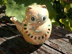 "CERAMIC ""LITTLE SOUTHWESTERN OWL"" TEAPOT - Beautiful Item!  $4.29"