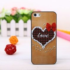 LOVE HEARTS CHOCOLATE Bow Print Case Cover For Apple iPhone 5 Mobile Phone by OEM, http://www.amazon.co.uk/dp/B00ECCJUV2/ref=cm_sw_r_pi_dp_Htgasb1FD6VN6
