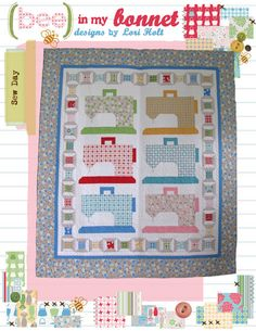 "Sew Day by Lori Holt pattern for 58""x66"" Quilt $14.00 on Etsy at http://www.etsy.com/listing/106459929/sew-day?ref=shop_home_active"