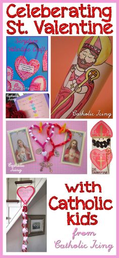 Looking for ideas to celebrate the feast of St. Valentine with your Catholic kids? This is the ultimate list! Crafts, printables, food ideas, and more. <3