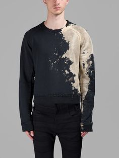 HAIDER ACKERMANN Haider Ackermann Men'S Black Cropped Sweater. #haiderackermann #cloth #sweaters