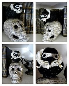 Edgar Allan Poe inspired Halloween craft