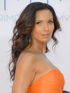 To flatter a square or heart-shaped face, consider soft waves like Padma Lakshmi's.