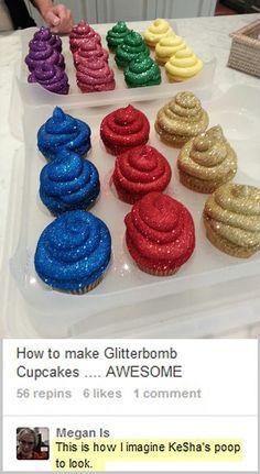 Ke$ha's glitter bombs…