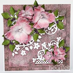Fleur Corner Accents project w/ Blazing Poppy collection  from Heartfelt Creations.