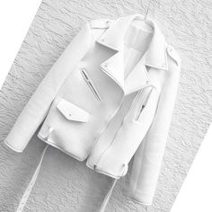 Perfection. White moto jacket