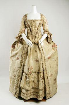 Dress (Robe à la Française)  Date: 1750–75