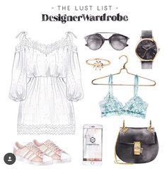 The Lust List: Designer Wardrobe Fashion Images, Fashion Art, Vide Dressing, Fashion Painting, Fashion Design Sketches, Chanel Fashion, Fashion Essentials, Anime Outfits, Vogue