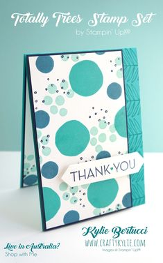 I love this use of the Stampin' Up! Totally Trees stamp set by Kylie Bertucci - gives it a whole new look!