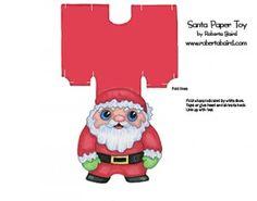 Free printable Santa Paper Toy // santapapertoy-300x236